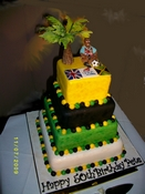 Jamaican themed 50th birthday Cake
