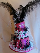 Pink Wonky 18th Birthday cake